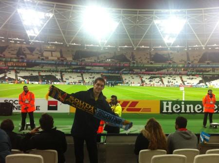 Beim Spiel um Platz 3 der Rugby WM 2015 Südafrika vs. Argentinien