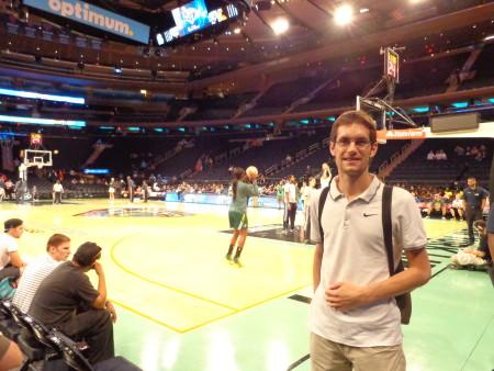 Im Madison Square Garden bei einem WNBA-Spiel der New York Liberty 2015 (c) Mihelic